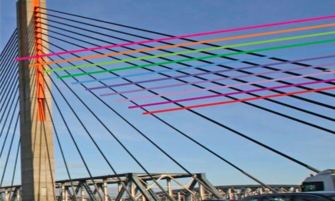 samen over de brug